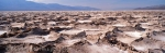 Panoramic photo of salt formation in Death Valley National Park in the US State of California.