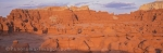 Panoramic photo of Goblin Valley State Park in Utah in western USA.