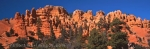 Panoramic photo of formations in Red Canyon State Park in Utah, USA