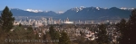 Panoramic photo of Vancouver in sothern British Columbia in Canada