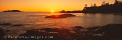 Panoramic West Coast Vancouver Island sunset